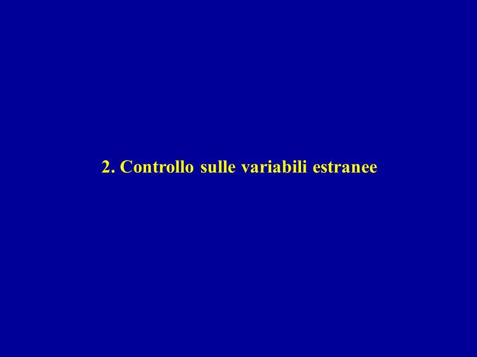 2. Controllo sulle variabili estranee