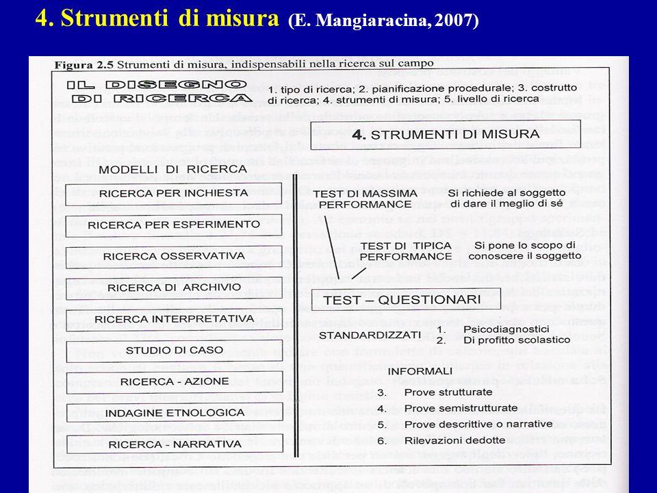 4. Strumenti di misura (E. Mangiaracina, 2007)