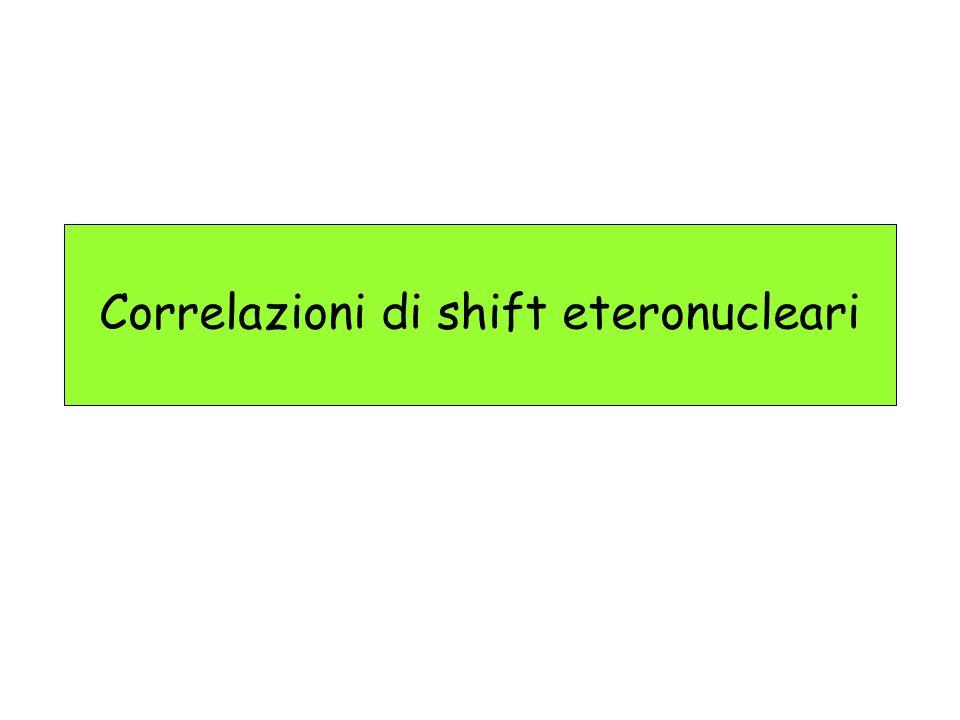 Correlazioni di shift eteronucleari