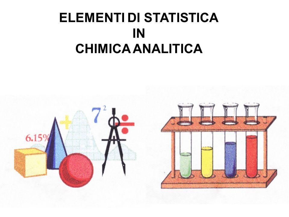 ELEMENTI DI STATISTICA IN CHIMICA ANALITICA