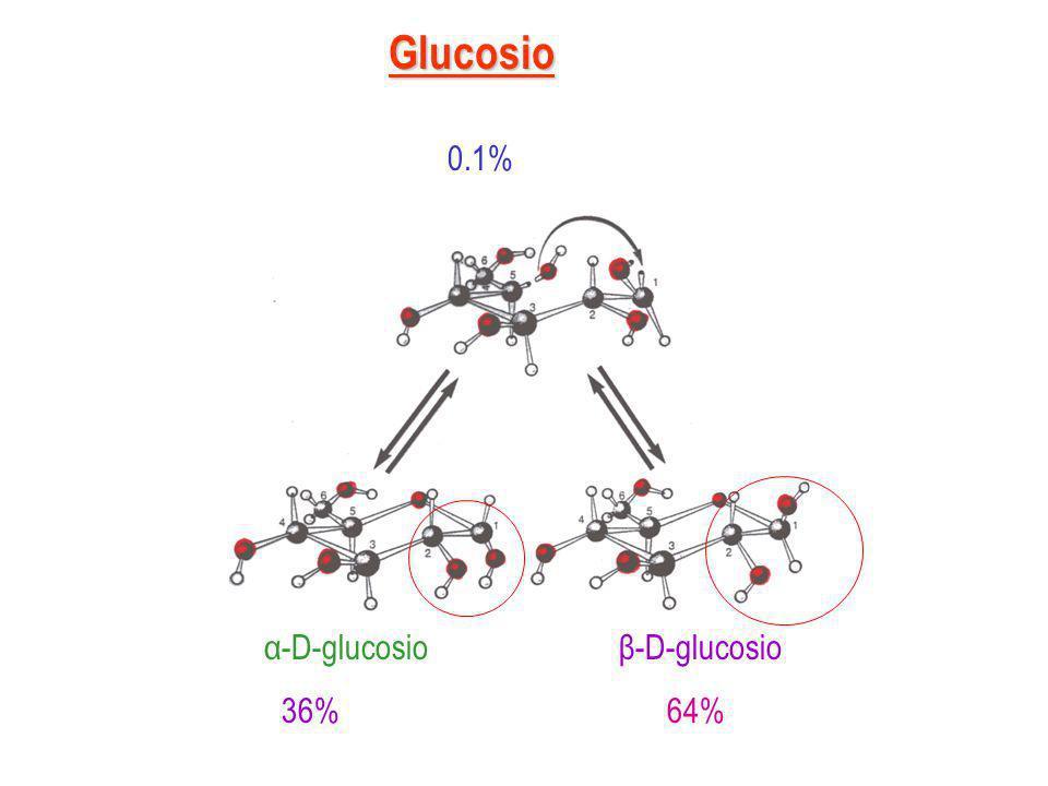 Possiamo quindi definire anomeri gli stereoisomeri che differiscono tra loro per la posizione dellossidrile semiacetalico, cioè per la configurazione interno al nuovo centro di asimmetria originato dalla ciclizzazione del monosaccaride.