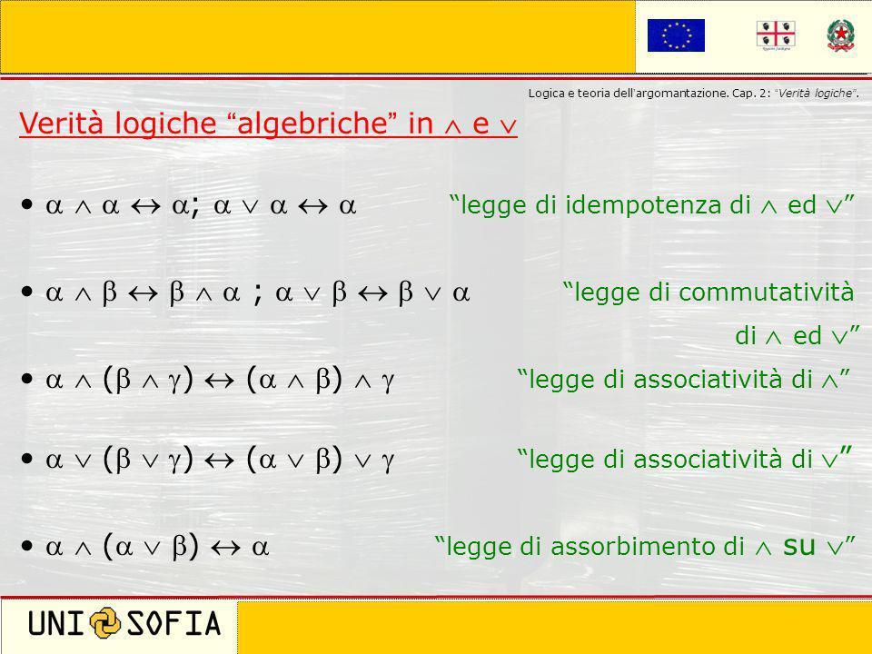 Cagliari 8 Novembre 2006 Corso di laurea in Scienze della Comunicazione Logica e teoria dell argomantazione. Cap. 2: Verità logiche. Verità logiche al