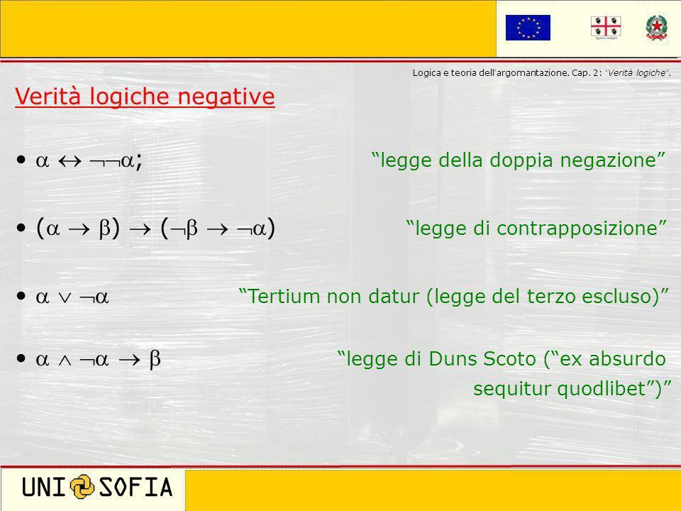 Cagliari 8 Novembre 2006 Corso di laurea in Scienze della Comunicazione Logica e teoria dell argomantazione. Cap. 2: Verità logiche. Verità logiche ne
