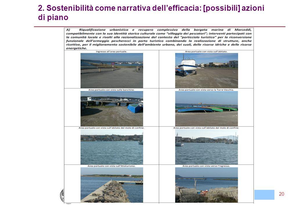 Cagliari, 26 Maggio 2011 Questioni problematiche per la VAS di un piano del sistema dei porti turistici della Sardegna 20 2.