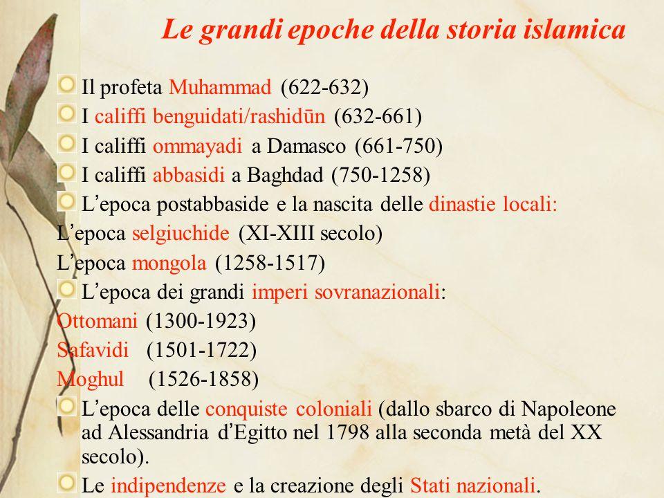 Dīn-dunya-dawla LIslam nasce con la rivelazione al profeta Muhammad* di un messaggio da diffondere allumanità: la parola di Dio (Allāh) diventerà il C