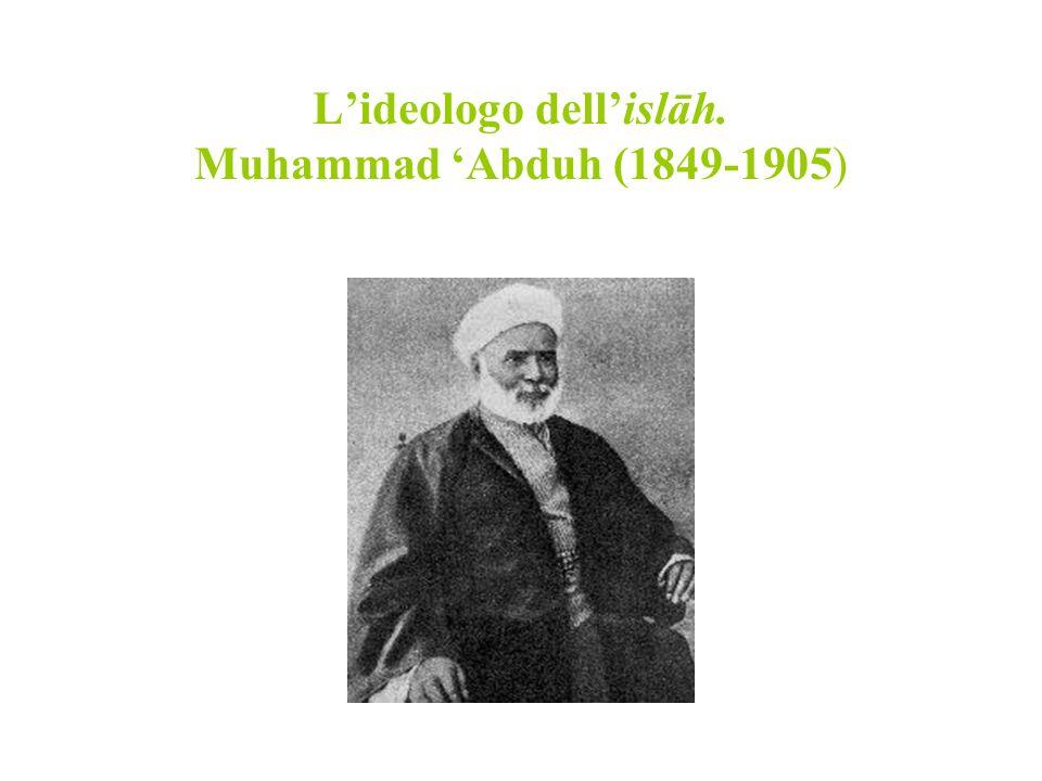 Lideologo dellislāh. Muhammad Abduh (1849-1905)