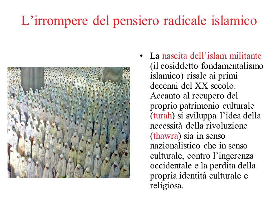 Lirrompere del pensiero radicale islamico La nascita dellislam militante (il cosiddetto fondamentalismo islamico) risale ai primi decenni del XX secol
