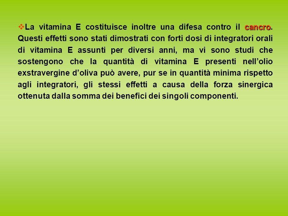 cancro La vitamina E costituisce inoltre una difesa contro il cancro.
