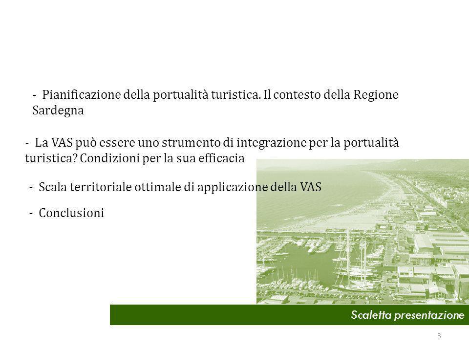 Scaletta presentazione - Pianificazione della portualità turistica.