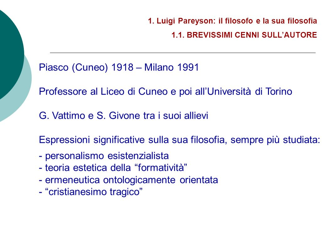 5.In dialogo con Pareyson 5.1.