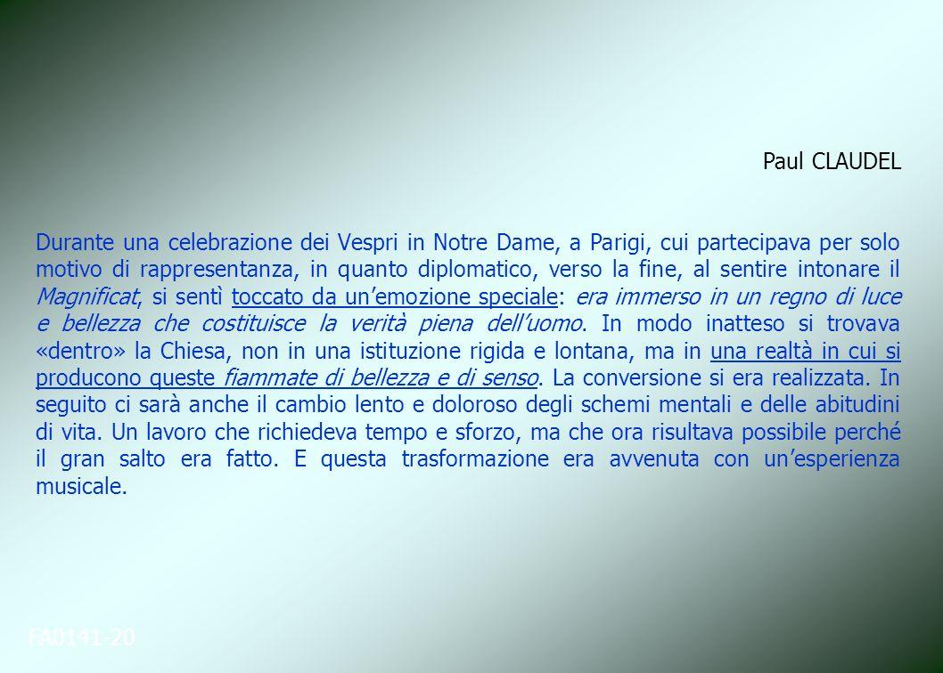 FA0141-20 Paul CLAUDEL Durante una celebrazione dei Vespri in Notre Dame, a Parigi, cui partecipava per solo motivo di rappresentanza, in quanto diplo