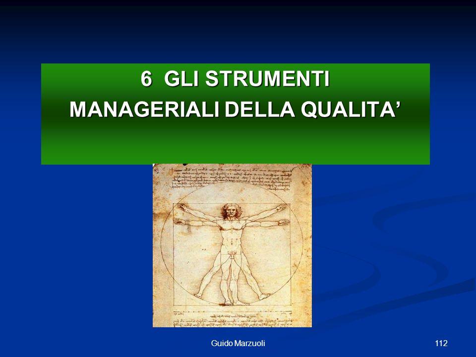 112Guido Marzuoli 6 GLI STRUMENTI MANAGERIALI DELLA QUALITA