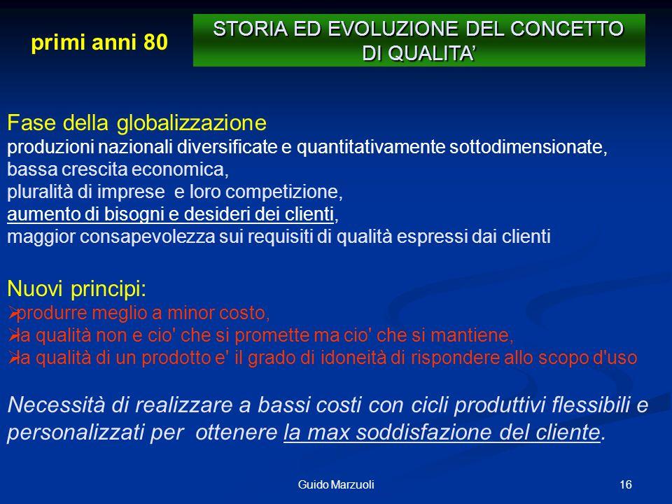 16Guido Marzuoli Fase della globalizzazione produzioni nazionali diversificate e quantitativamente sottodimensionate, bassa crescita economica, plural