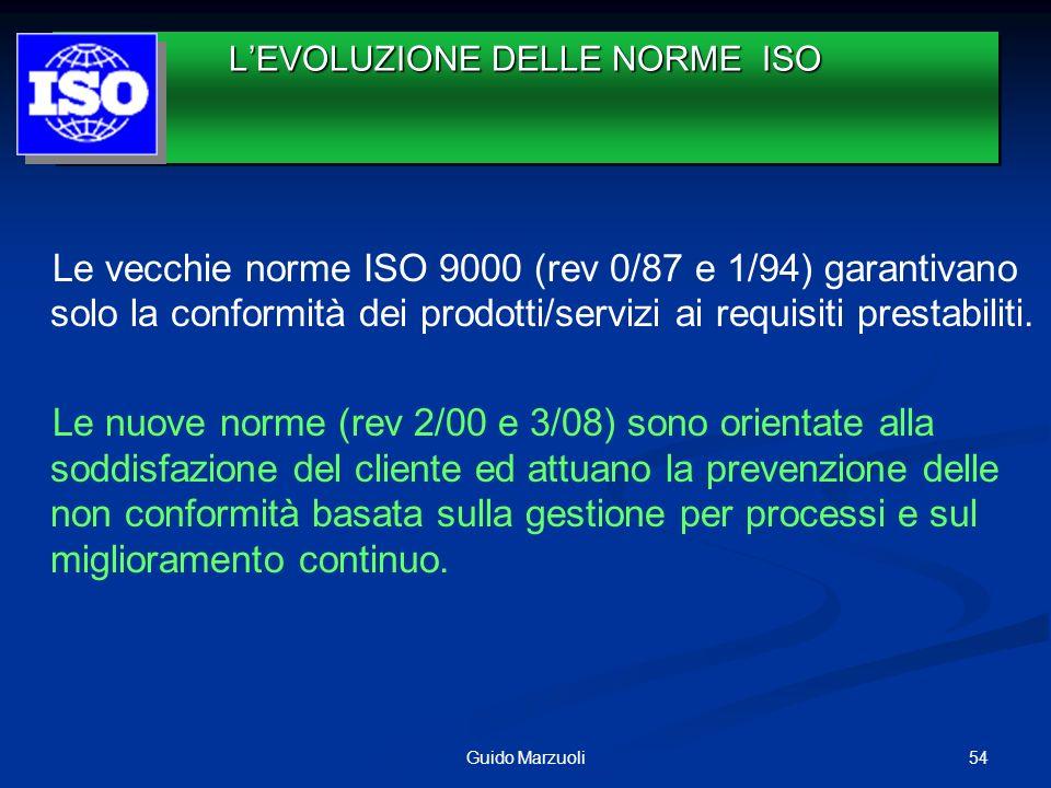 Le vecchie norme ISO 9000 (rev 0/87 e 1/94) garantivano solo la conformità dei prodotti/servizi ai requisiti prestabiliti. Le nuove norme (rev 2/00 e