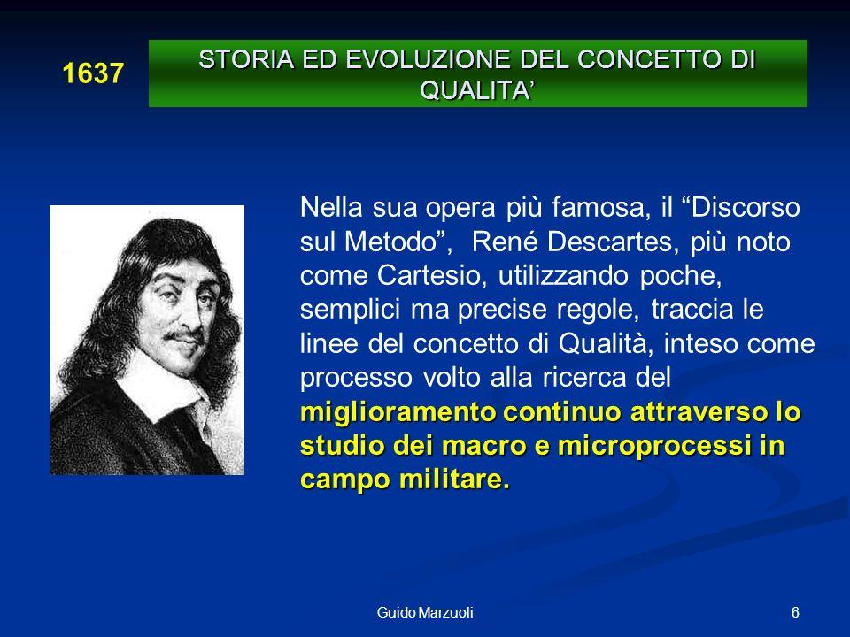 6Guido Marzuoli miglioramento continuo attraverso lo studio dei macro e microprocessi in campo militare. Nella sua opera più famosa, il Discorso sul M