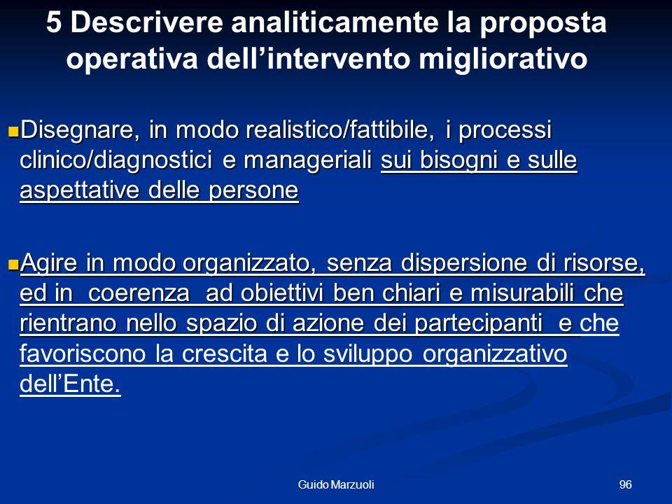 96Guido Marzuoli Disegnare, in modo realistico/fattibile, i processi clinico/diagnostici e manageriali sui bisogni e sulle aspettative delle persone D