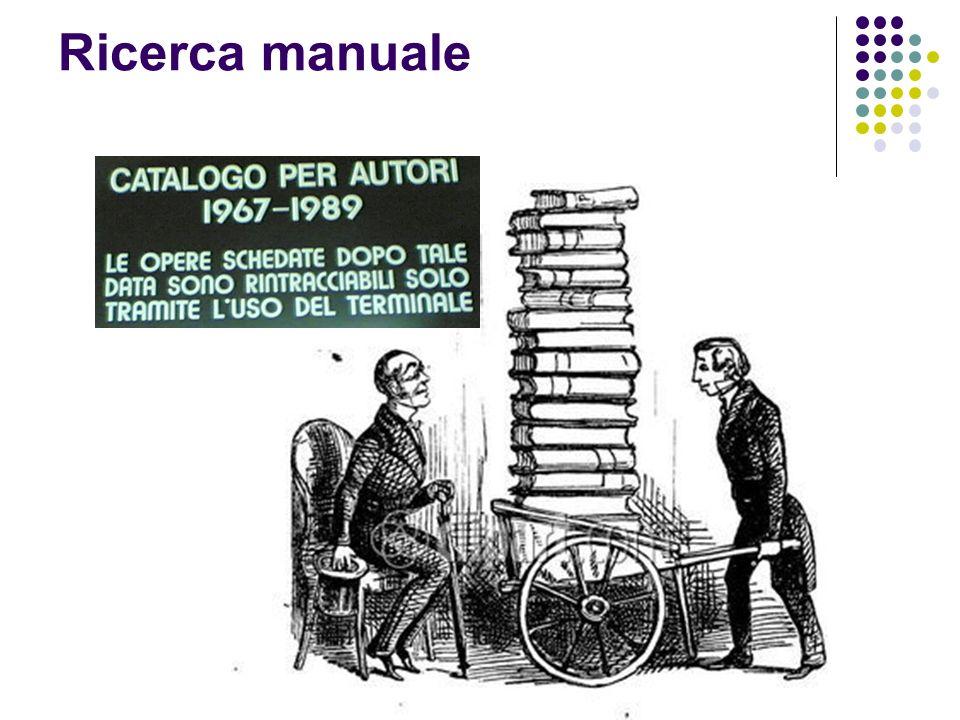 Ricerca manuale