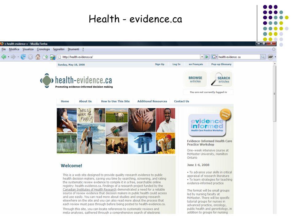 Health - evidence.ca