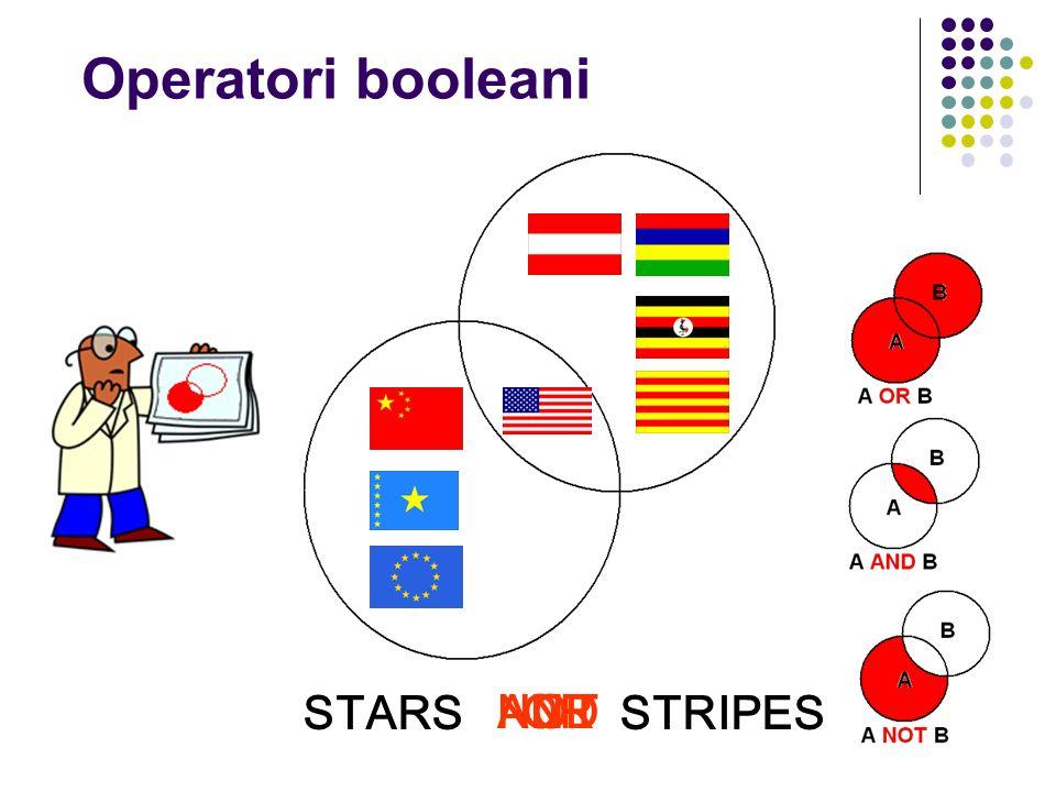 STARS STRIPES ORANDNOT Operatori booleani