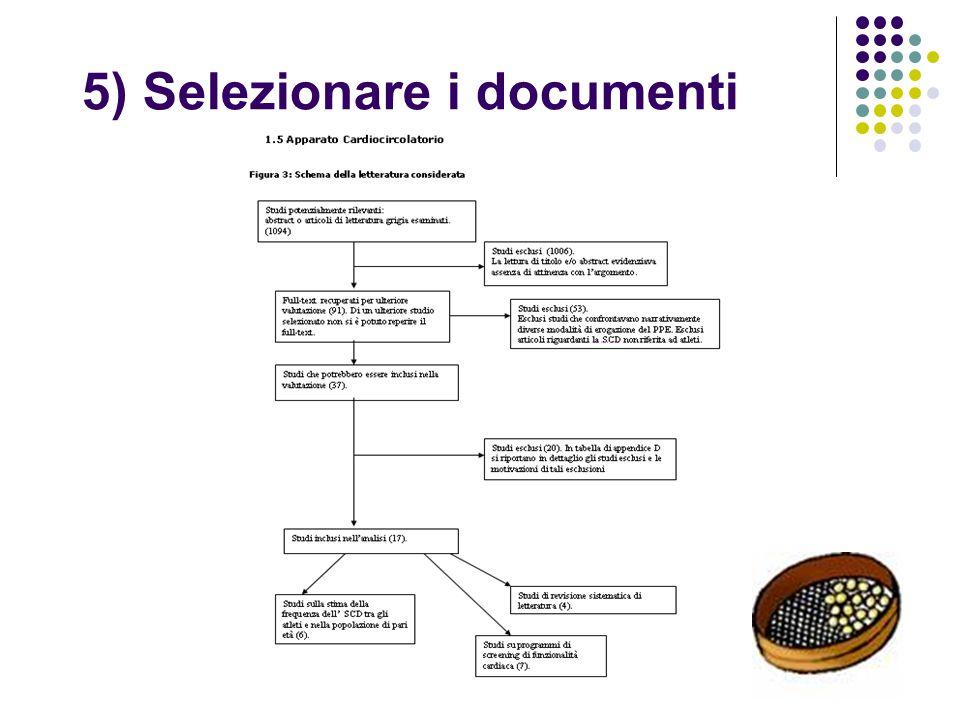 5) Selezionare i documenti