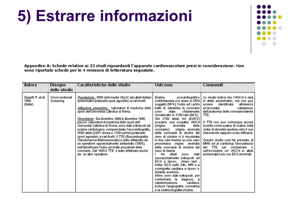 5) Estrarre informazioni