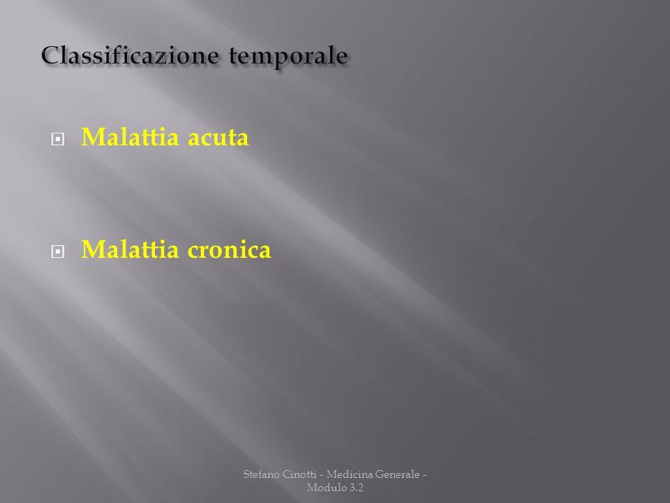 Stefano Cinotti - Medicina Generale - Modulo 3.2 Malattia acuta Malattia cronica