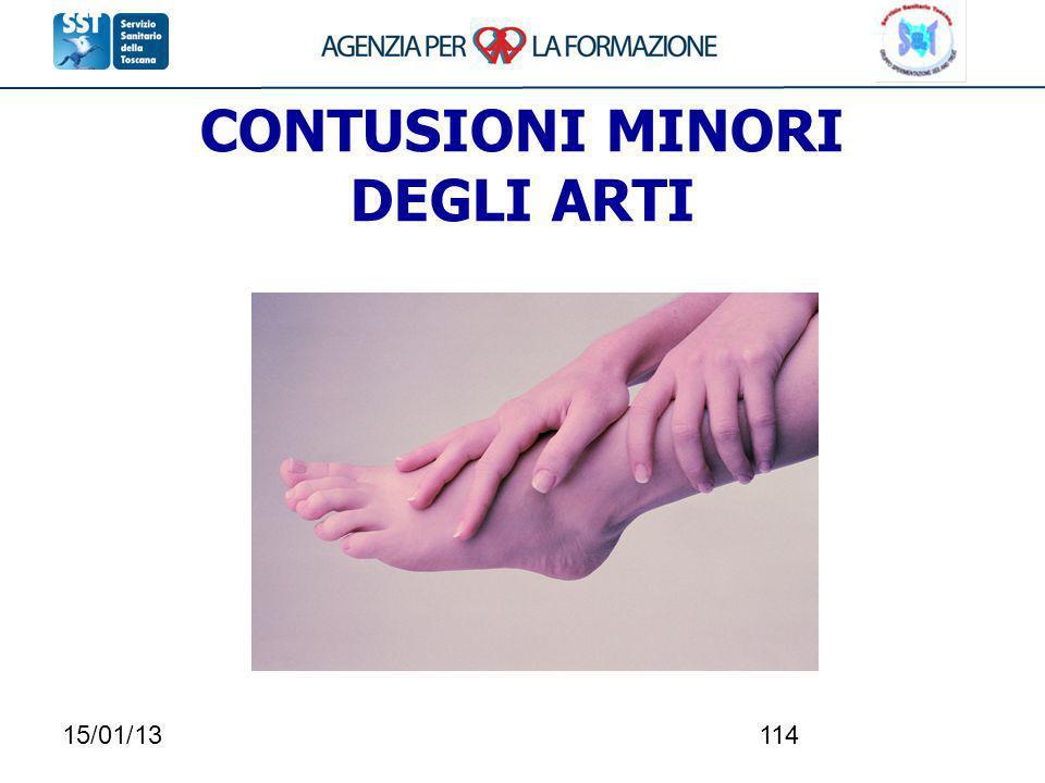 15/01/13114 CONTUSIONI MINORI DEGLI ARTI