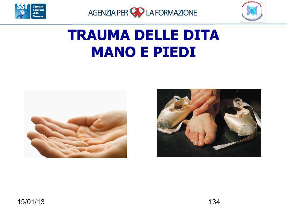 15/01/13134 TRAUMA DELLE DITA MANO E PIEDI