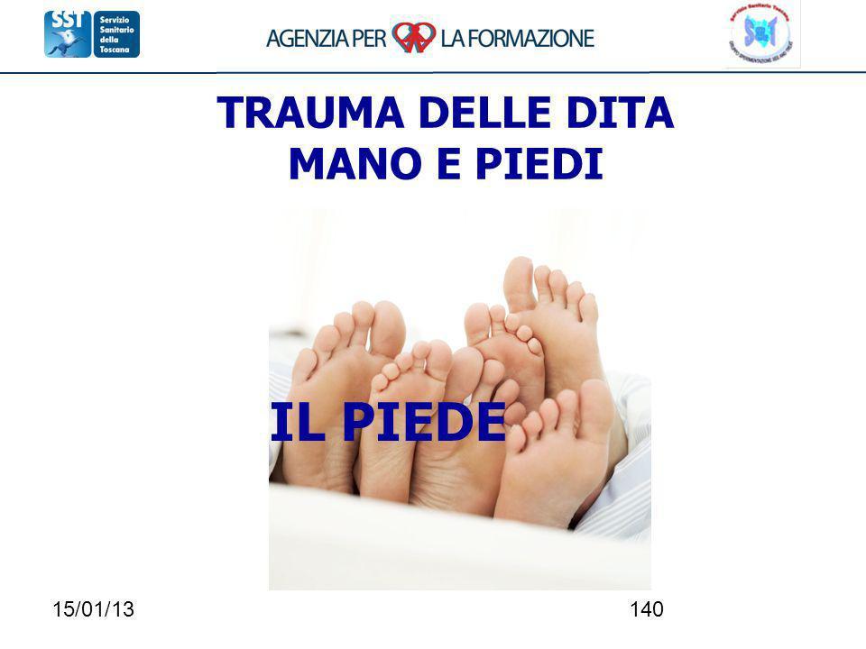 15/01/13140 TRAUMA DELLE DITA MANO E PIEDI IL PIEDE