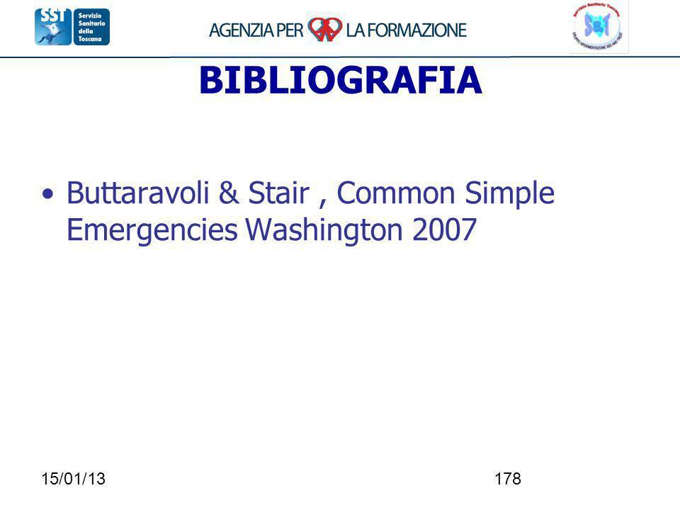 15/01/13178 BIBLIOGRAFIA Buttaravoli & Stair, Common Simple Emergencies Washington 2007