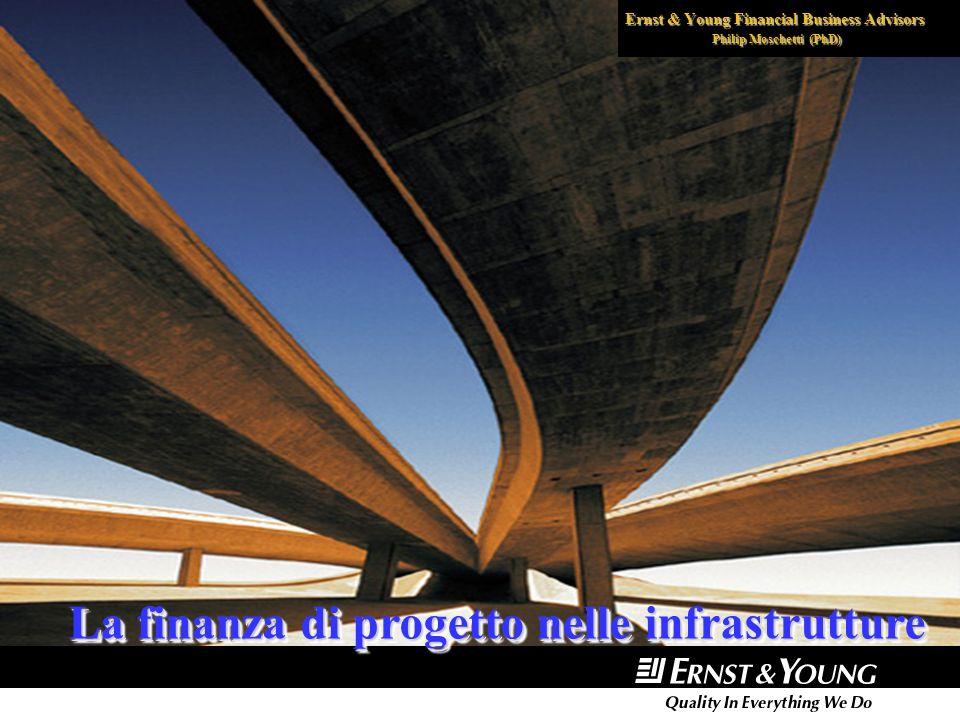 Ernst & Young Financial Business Advisors Philip Moschetti (PhD) La finanza di progetto nelle infrastrutture