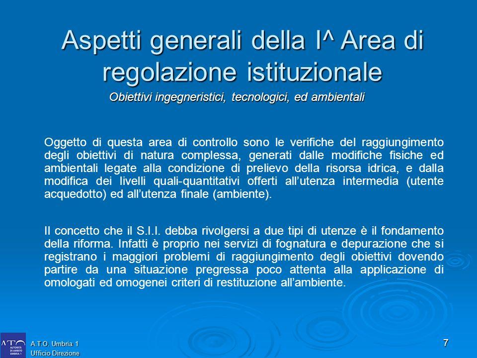 7 A.T.O. Umbria 1 Ufficio Direzione Oggetto di questa area di controllo sono le verifiche del raggiungimento degli obiettivi di natura complessa, gene