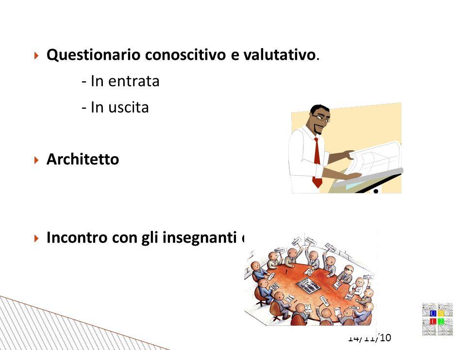 14/11/10 Questionario conoscitivo e valutativo.