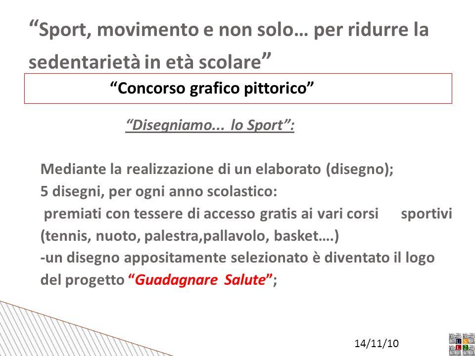 Sport, movimento e non solo… per ridurre la sedentarietà in età scolare Concorso grafico pittorico Disegniamo...