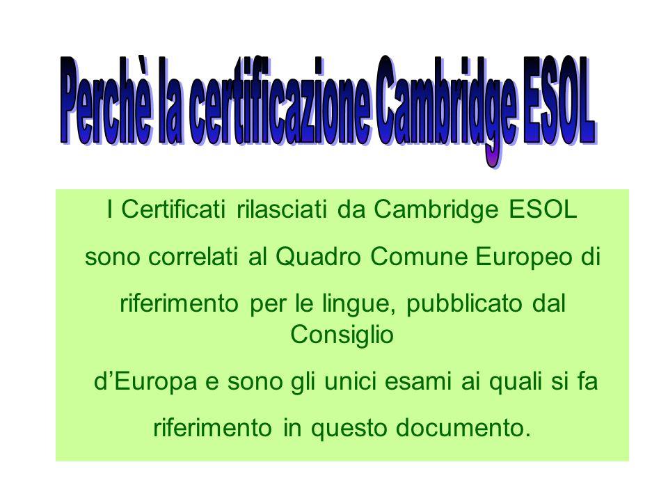 Le prove desame sostenute dagli alunni la mattina del 29 Maggio 2007 sono state inviate a Cambridge per essere corrette e valutate. I risultati verran