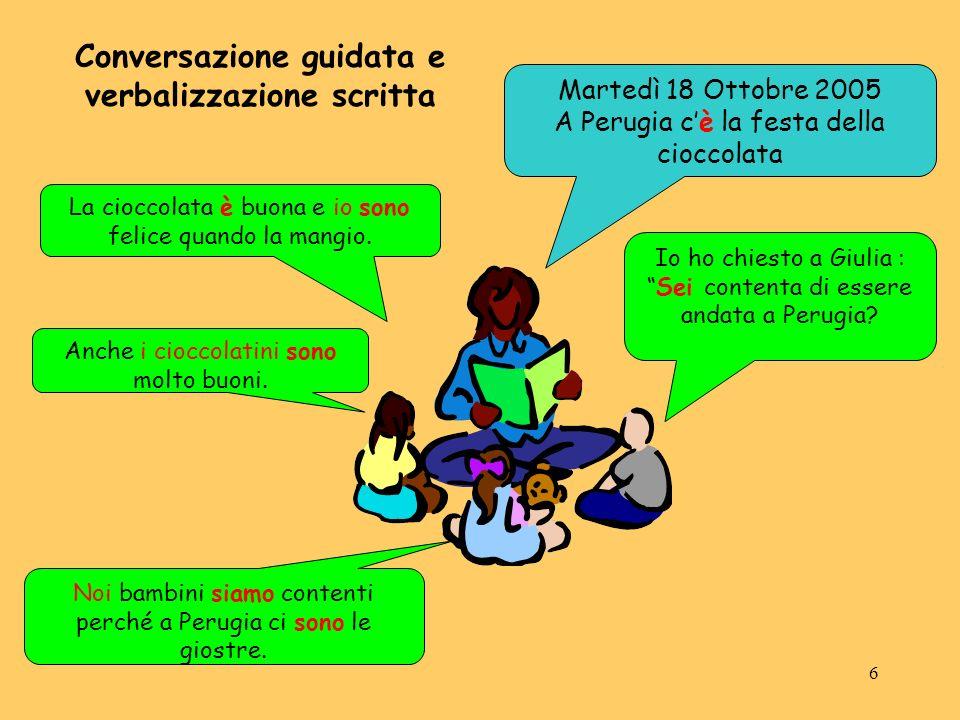 6 Martedì 18 Ottobre 2005 A Perugia cè la festa della cioccolata La cioccolata è buona e io sono felice quando la mangio. Anche i cioccolatini sono mo