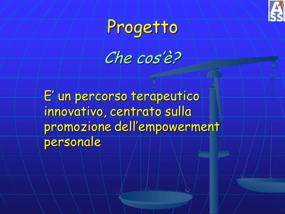 Progetto E un percorso terapeutico innovativo, centrato sulla promozione dellempowerment personale Che cosè?
