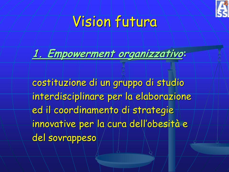 Vision futura 1. Empowerment organizzativo: costituzione di un gruppo di studio interdisciplinare per la elaborazione ed il coordinamento di strategie