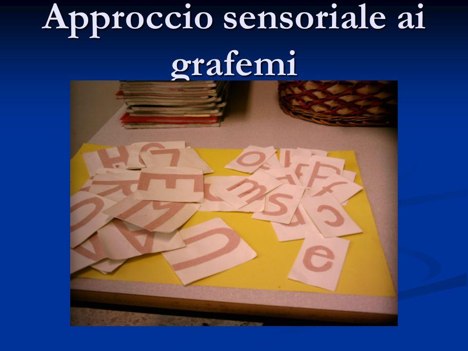 Approccio sensoriale ai grafemi
