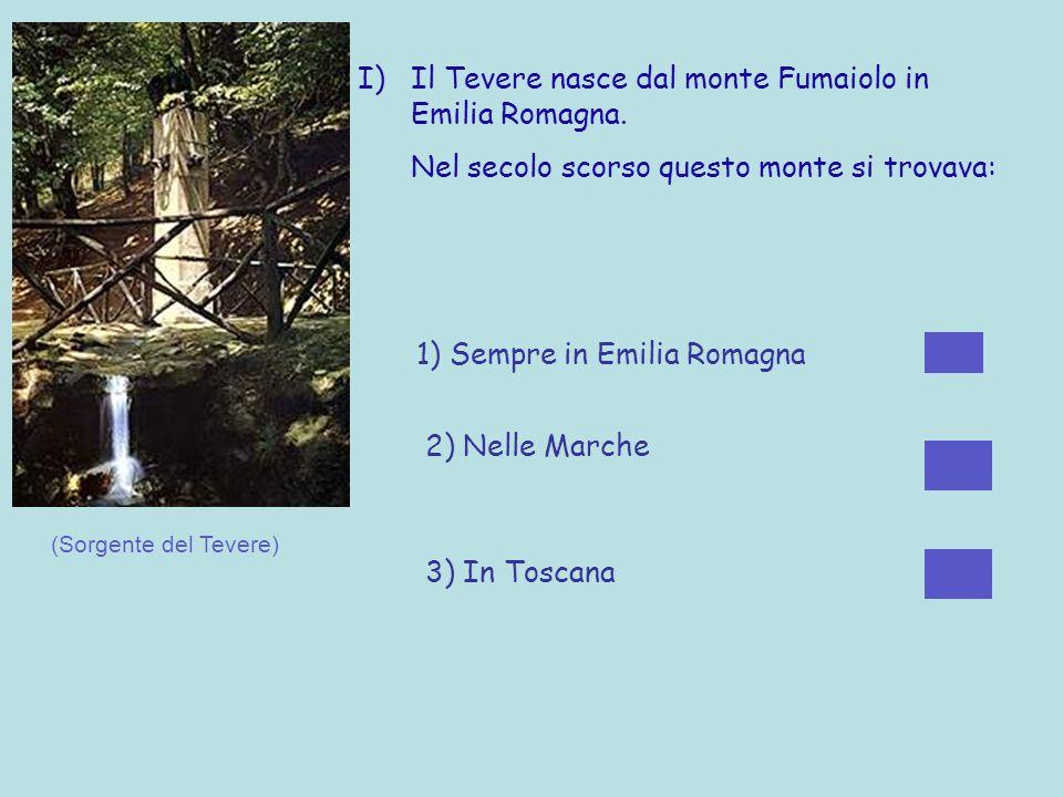 H) Le buste di plastica penzolanti lungo il fiume...... 1) Sono particolari aquiloni per abbellire il fiume 2) Sono rimaste dallultima alluvione 3) So