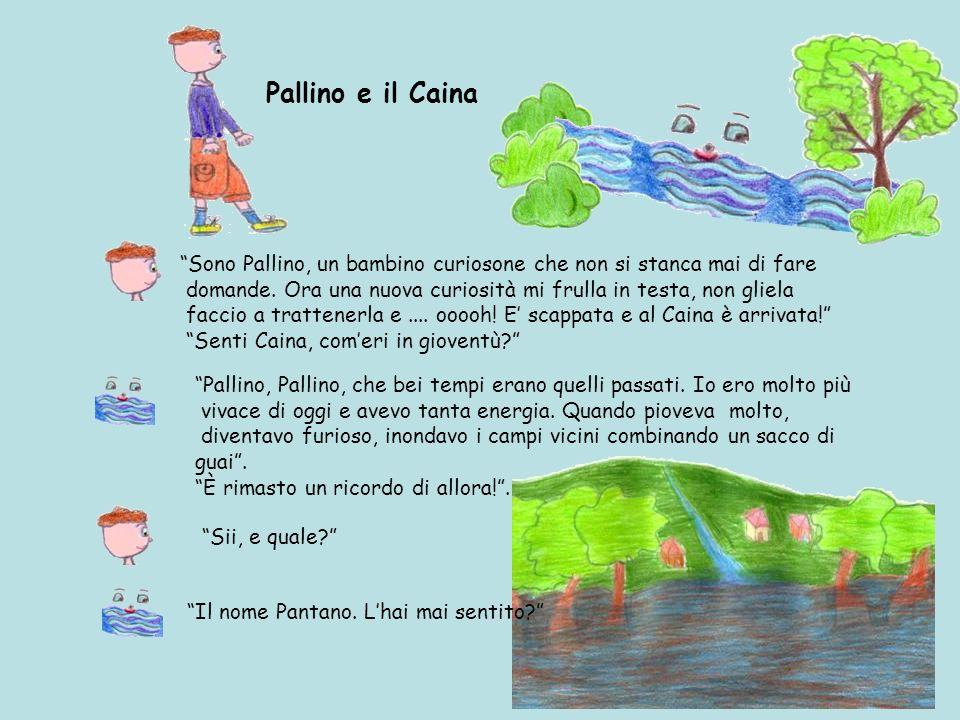 Pallino e il Caina Sono Pallino, un bambino curiosone che non si stanca mai di fare domande.