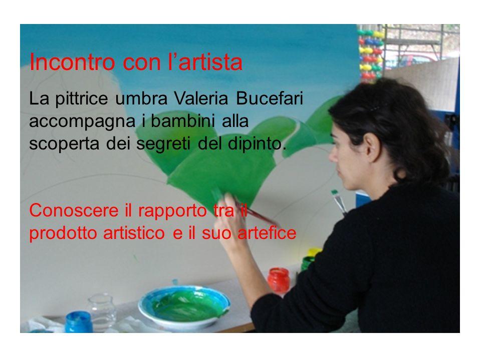 Incontro con lartista La pittrice umbra Valeria Bucefari accompagna i bambini alla scoperta dei segreti del dipinto. Conoscere il rapporto tra il prod