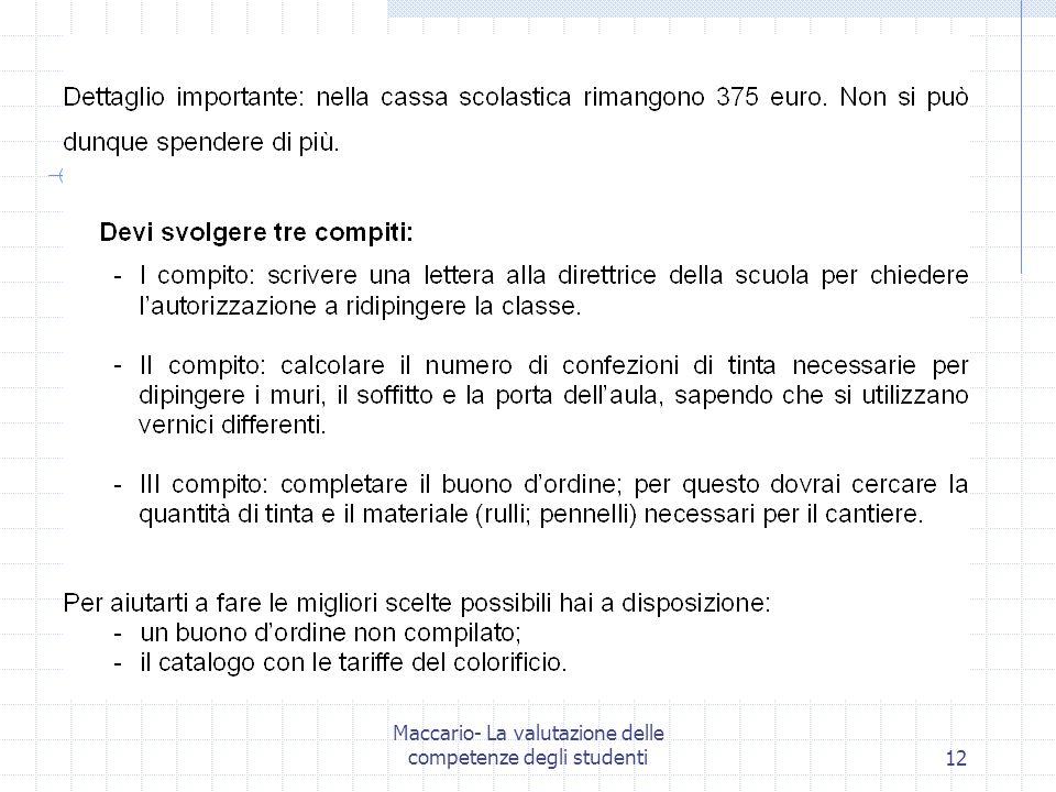 Maccario- La valutazione delle competenze degli studenti12