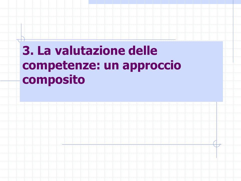 3. La valutazione delle competenze: un approccio composito
