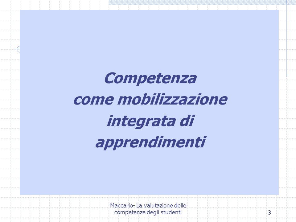 Maccario- La valutazione delle competenze degli studenti14