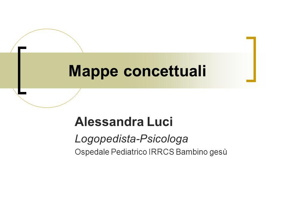 Mappe concettuali Alessandra Luci Logopedista-Psicologa Ospedale Pediatrico IRRCS Bambino gesù