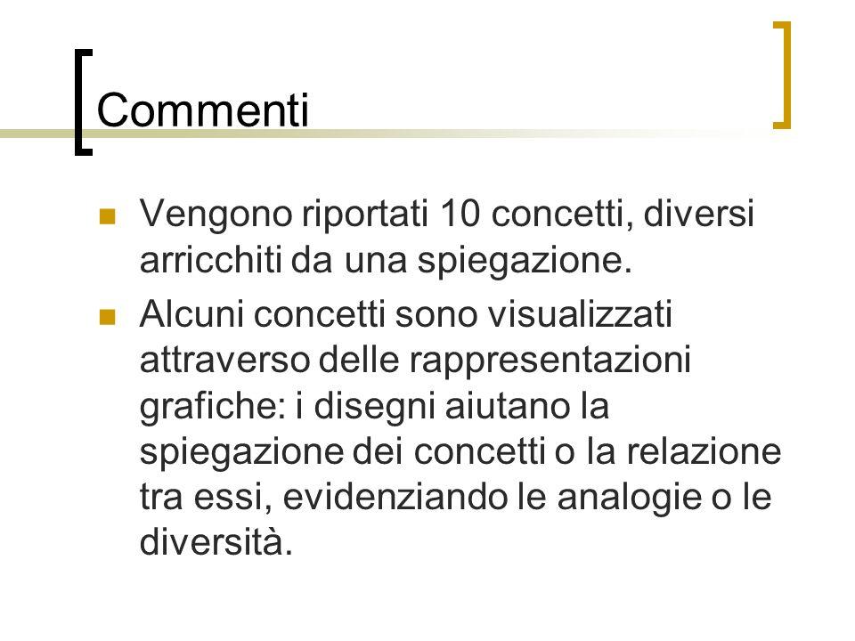 Commenti Vengono riportati 10 concetti, diversi arricchiti da una spiegazione.