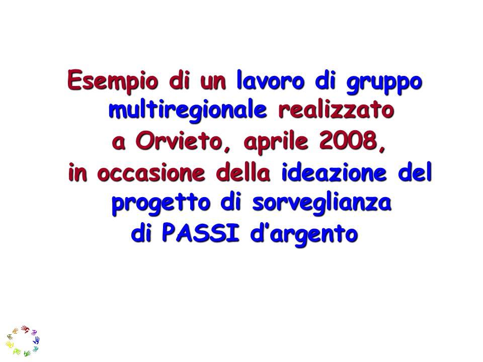 Esempio di un lavoro di gruppo multiregionale realizzato a Orvieto, aprile 2008, a Orvieto, aprile 2008, in occasione della ideazione del progetto di