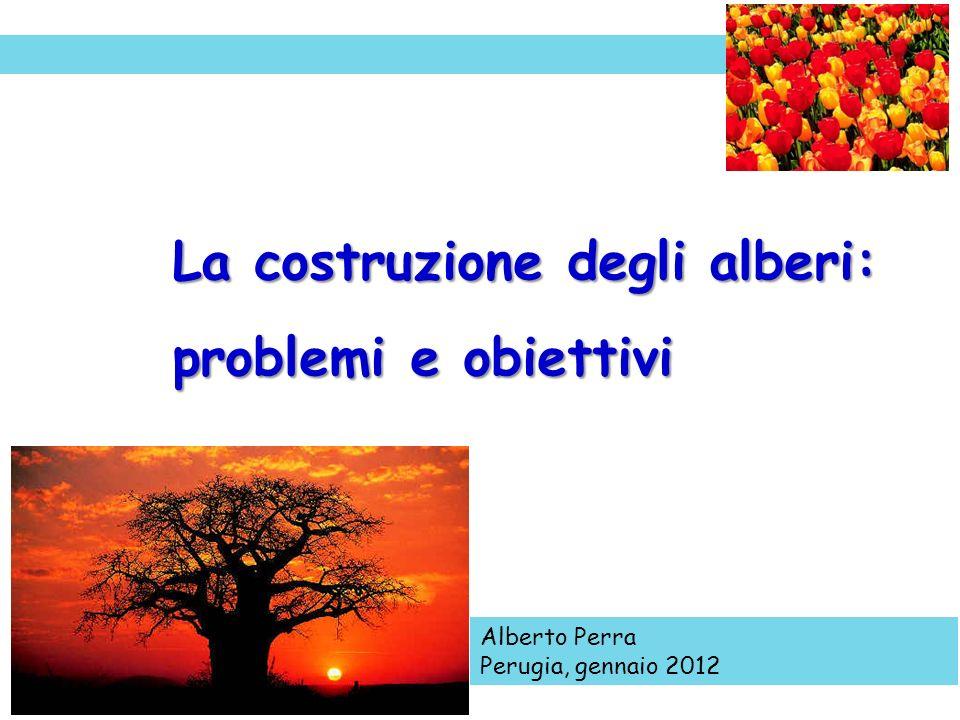 Alberto Perra Perugia, gennaio 2012 La costruzione degli alberi: problemi e obiettivi