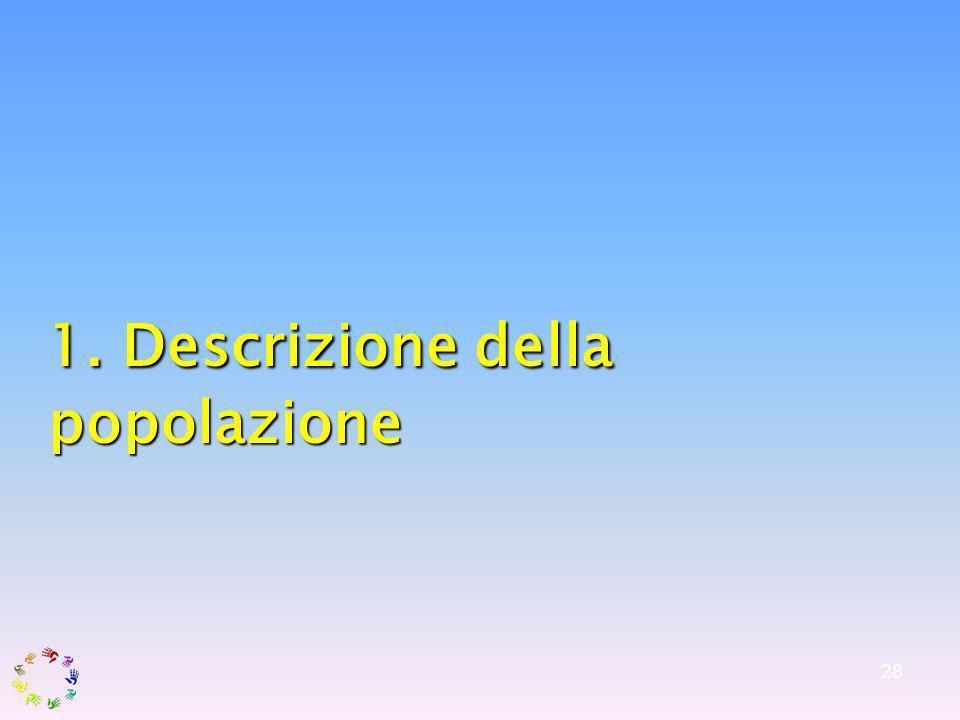 28 1. Descrizione della popolazione 1. Descrizione della popolazione